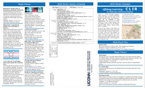 CLIR Winter Brochure for 2020