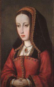 oil painting of queen Juana